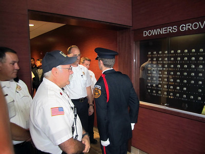 HONOR GUARD GETTING THE BADGE CASE KEY FROM THE CHIEF