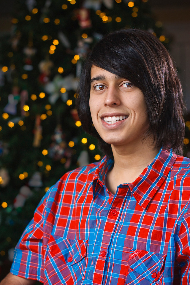 Assignment 4 - Studio Lighting<br /> My Nephew Bryan posing for a Christmas card photo.