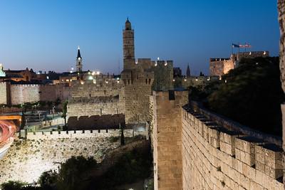 Jerusalem Ramparts at Night