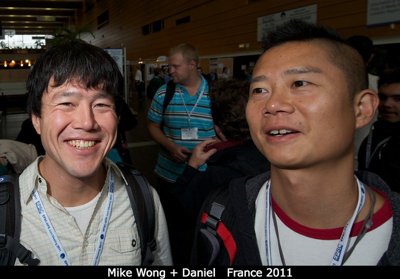 Mike Wong (Berkeley) and Daniel, before heading to Paris (I think?).<br /> <br /> Credit: Henry Throop<br /> Oct 2011