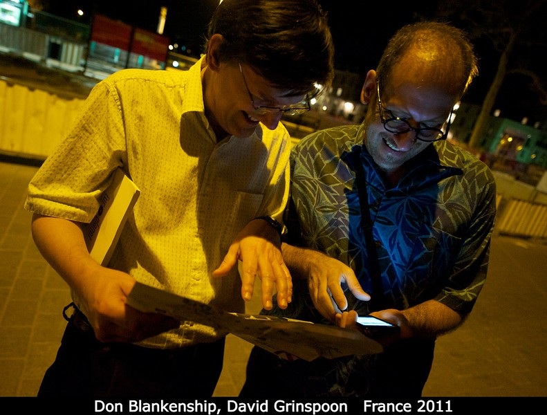 Don Blankenship (U. Texas) and David Grinspoon (DMNS) attempt nocturnal navigation.<br /> <br /> Credit: Henry Throop<br /> Oct 2011