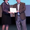 Melissa McGrath gives Bill Ward the 2011 Kuiper Prize.<p>Unfortunately I didn't get pictures of the award winners earlier in the week, Emily Lakdawalla, Jim Bell, and Ben Clark, but I'm sure someone else did!</p>  Credit: Henry Throop Oct 2011