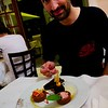 Cesare Grava (U. Padova) at one of the best meals I had in France.<br /> <br /> Credit: Henry Throop<br /> Oct 2011