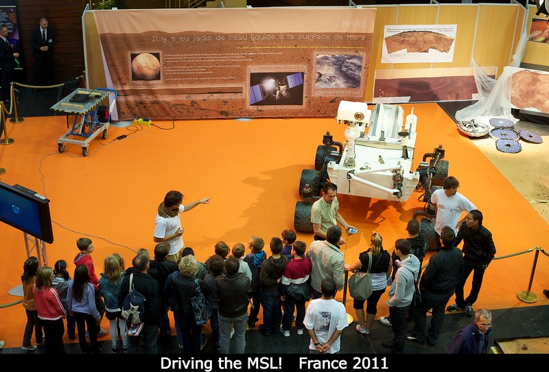 Driving the MSL!<br /> <br /> Credit: Henry Throop<br /> Oct 2011