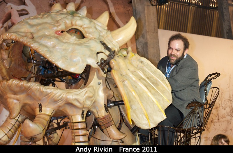 Andy Rivkin (APL) drives the gigantic mechanical . . . thing.<br /> <br /> Credit: Henry Throop<br /> Oct 2011