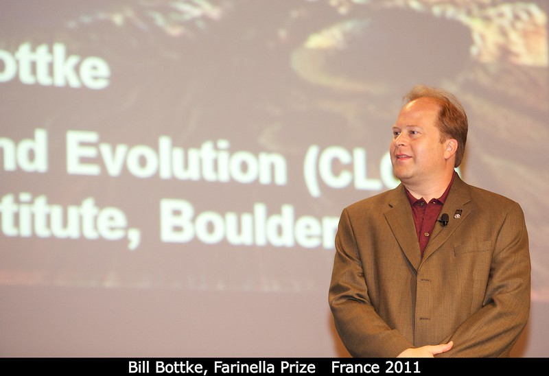 Bill Bottke (SwRI) awaits his award.<br /> <br /> Credit: Henry Throop<br /> Oct 2011