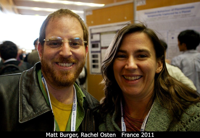 In the morning, Matt Burger (GSFC / UMBC) and Rachel Osten (STScI) are particularly happy, as am I, because they sold me their extra banquet ticket.<br /> <br /> Credit: Henry Throop<br /> Oct 2011