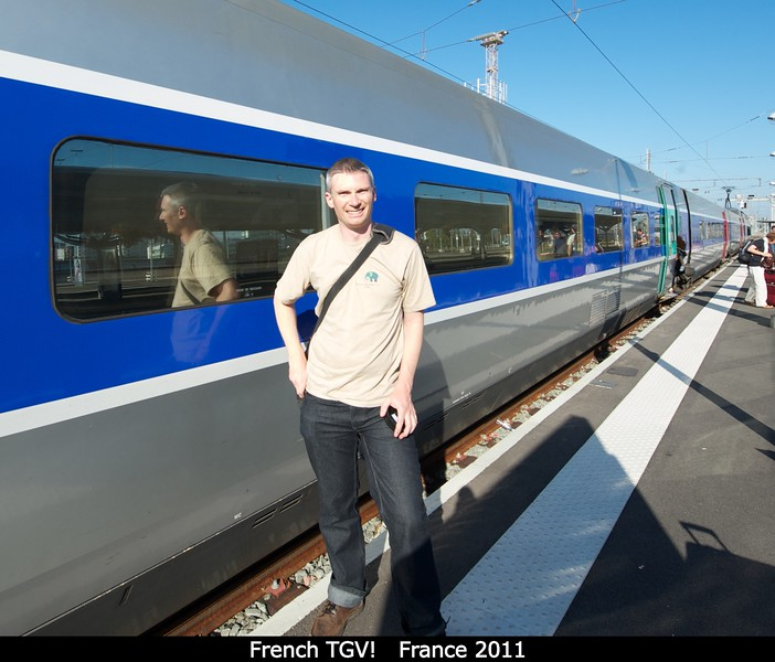 Getting off that beautiful French TGV!<br /> <br /> Credit: Henry Throop<br /> Oct 2011