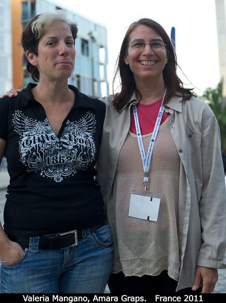 Valeria Mangano and Amara Graps.<br /> <br /> Credit: Henry Throop<br /> Oct 2011