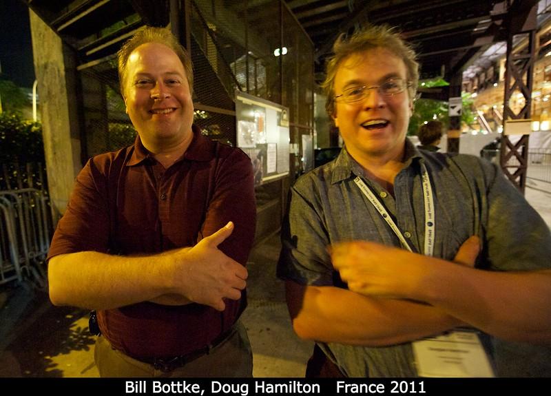 Bill Bottke (SwRI) and Doug Hamilton (U. Maryland).<br /> <br /> Credit: Henry Throop<br /> Oct 2011