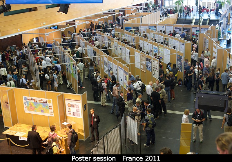Poster session on the main floor.<br /> <br /> Credit: Henry Throop<br /> Oct 2011
