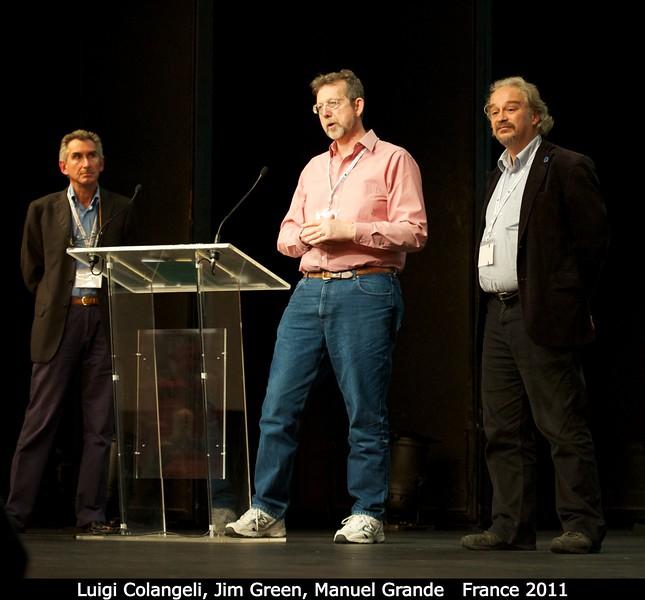 Luigi Colangeli (ESA), Jim Green (NASA), and Manuel Grande (University of Wales Aberystwyth).<br /> <br /> Credit: Henry Throop<br /> Oct 2011