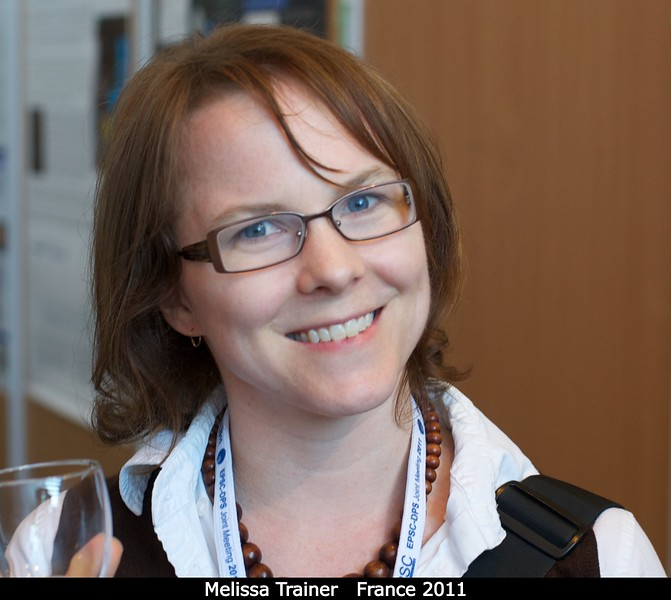Melissa Trainer (GSFC) discusses organic molecules.<br /> <br /> Credit: Henry Throop<br /> Oct 2011