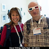 Dave Trilling (NAU) refuses to remove his 3D glasses after Monday's Pluto session. Kelly Fast (HQ), while modeling the latest Star Trek wear, supports that decision.<br /> <br /> Credit: Henry Throop<br /> Oct 2015<br /> DPS47 National Harbor