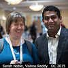 Sarah Noble (HQ) and Vishnu Reddy (PSI) can't wait to head down to the poster session. <br /> <br /> Credit: Henry Throop<br /> Oct 2015<br /> DPS47 National Harbor