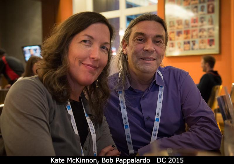 Kate McKinnon + Bob Pappalardo.<br /> <br /> Credit: Henry Throop<br /> Oct 2015<br /> DPS47 National Harbor