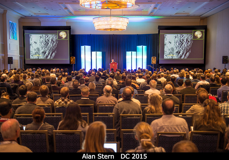PI Alan Stern (SwRI) gets things going...<br /> <br /> Credit: Henry Throop<br /> Oct 2015<br /> DPS47 National Harbor