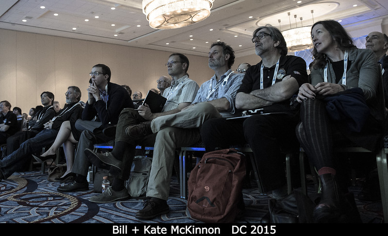 Bill and Kate McKinnon et al in the front row.<br /> <br /> Credit: Henry Throop<br /> Oct 2015<br /> DPS47 National Harbor