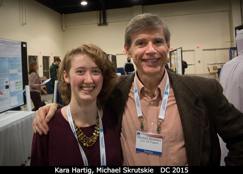 Kara Hartig (Brown) and Michael Skrutskie (UVA).<br /> <br /> Credit: Henry Throop<br /> Oct 2015<br /> DPS47 National Harbor