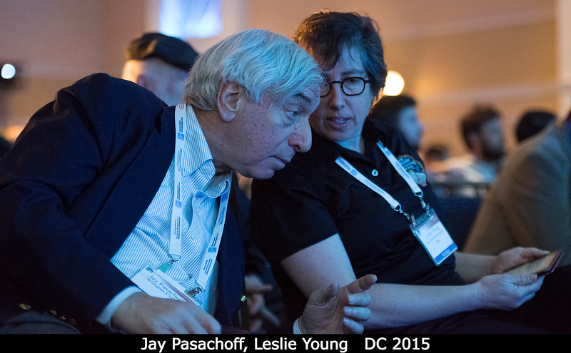 Jay Pasachoff (Williams College) with Leslie Young.<br /> <br /> Credit: Henry Throop<br /> Oct 2015<br /> DPS47 National Harbor
