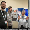 Mona Delitsky (California Specialty Engineering) shows off that Venusian sulphuric acid poster to Nicholas Stamper, Chad Melton (both UTK).<br /> <br /> Credit: Henry Throop<br /> Oct 2015<br /> DPS47 National Harbor