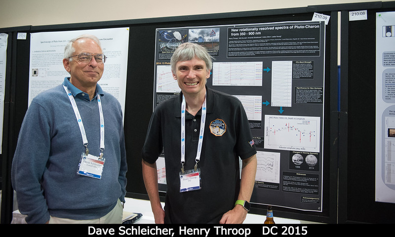 Dave Schleicher (Lowell) with me and my poster.<br /> <br /> Credit: Henry Throop<br /> Oct 2015<br /> DPS47 National Harbor