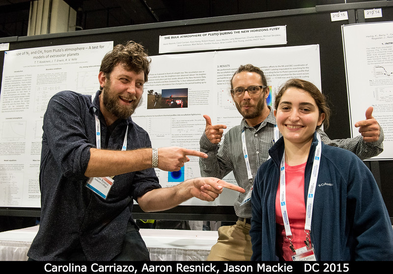 Who did all of the work? Carolina Carriazo! Or so says Aaron Resnick and Jason Mackie (all Amherst).<br /> <br /> Credit: Henry Throop<br /> Oct 2015<br /> DPS47 National Harbor