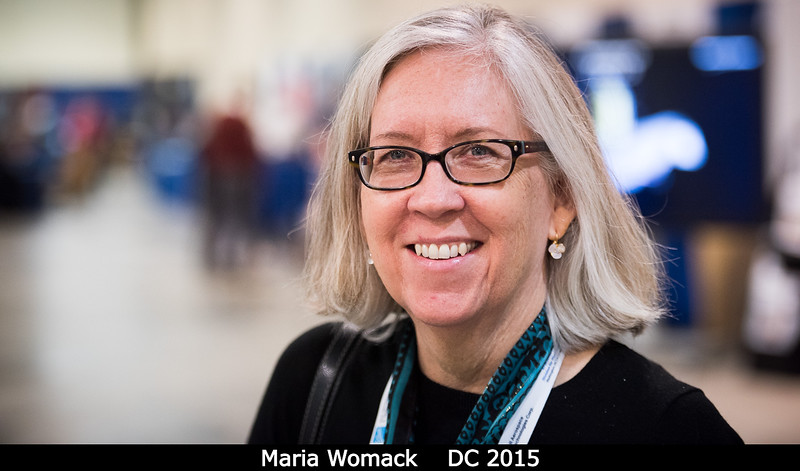 Maria Womack (U. Southern Florida) is no longer wearing her NSF hat.<br /> <br /> Credit: Henry Throop<br /> Oct 2015<br /> DPS47 National Harbor