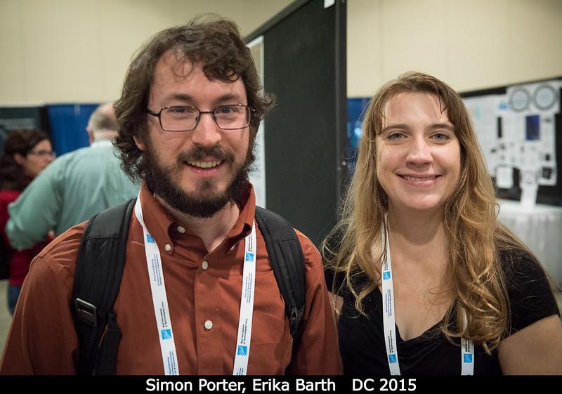 Simon Porter and Erika Barth (both SwRI).<br /> <br /> Credit: Henry Throop<br /> Oct 2015<br /> DPS47 National Harbor