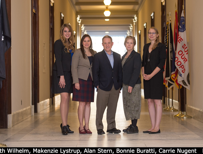 Outside the Senate briefing room: Mary Beth Wilhelm, Makenzie Lystrup, Alan Stern, Bonnie Buratti, Carrie Nugent.<br /> <br /> Credit: Henry Throop<br /> Oct 2015<br /> DPS47 National Harbor