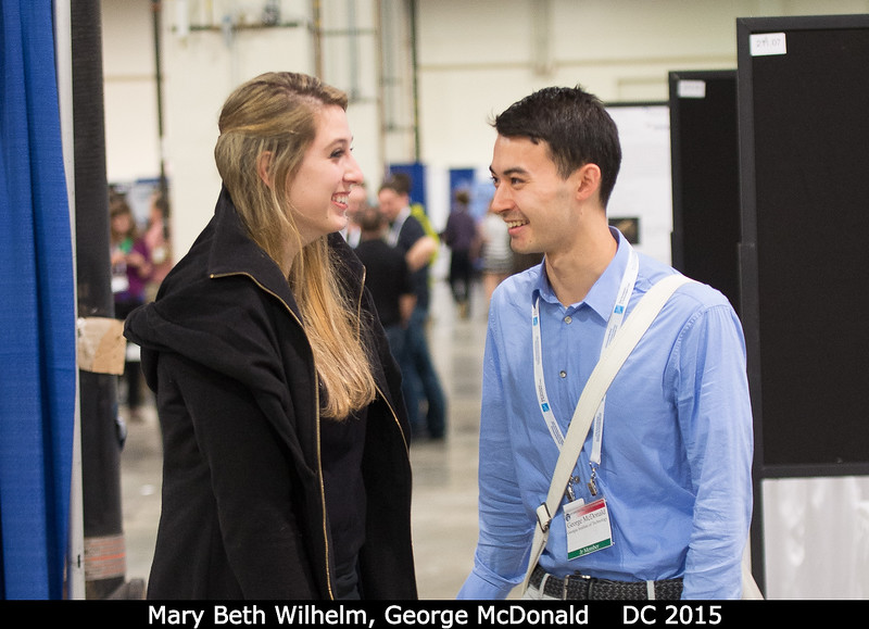 Mary Beth Wilhelm (Georgia Tech / Ames) and George McDonald (Georgia Tech).<br /> <br /> Credit: Henry Throop<br /> Oct 2015<br /> DPS47 National Harbor