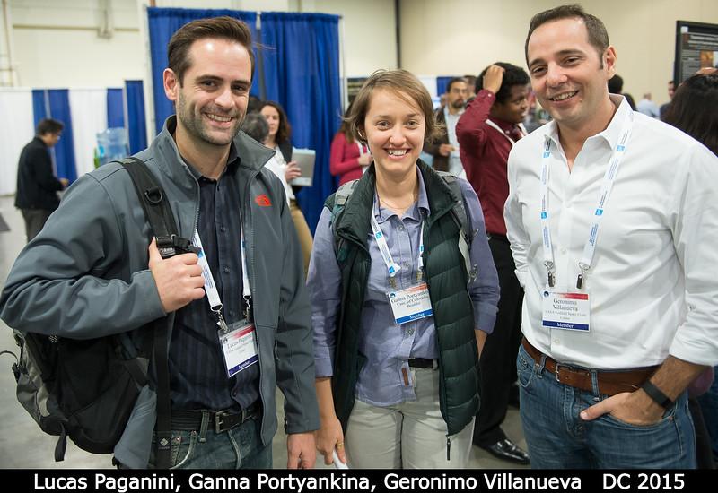 Lucas Paganini (GSFC), Ganna Portyankina (CU Boulder), and Geronimo Villanueva (GSFC).<br /> <br /> Credit: Henry Throop<br /> Oct 2015<br /> DPS47 National Harbor