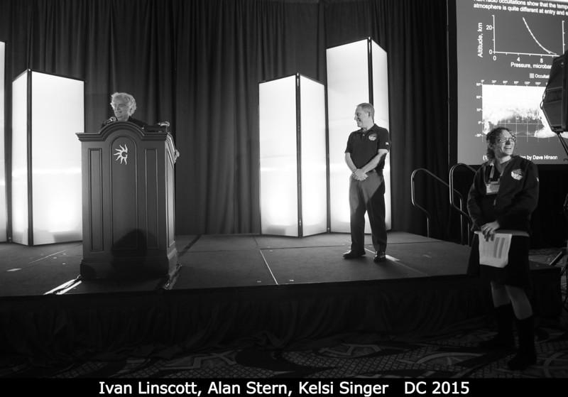 Ivan Linscott (Stanford), Alan Stern (SwRI), Kelsi Singer (SwRI).<br /> <br /> Credit: Henry Throop<br /> Oct 2015<br /> DPS47 National Harbor