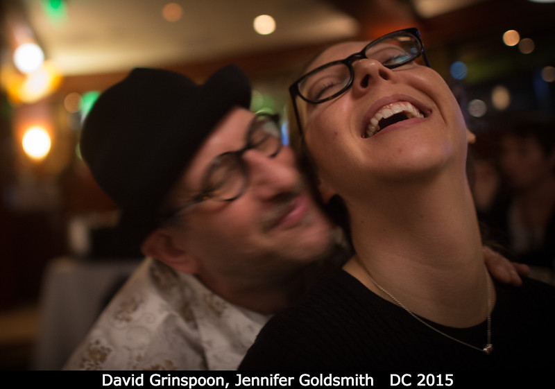 David Grinspoon (PSI) and freshly-minted spouse Jennifer Goldsmith re-enact a kiss from an earlier Pasadena DPS meeting.<br /> <br /> Credit: Henry Throop<br /> Oct 2015<br /> DPS47 National Harbor