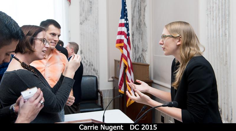 Carrie Nugent gets a lot of interest in her meteorite samples!<br /> <br /> Credit: Henry Throop<br /> Oct 2015<br /> DPS47 National Harbor