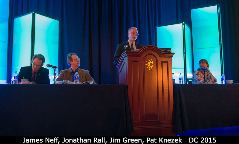James Neff (NSF), with Jonathan Rall, Jim Green, and Pat Knezek.<br /> <br /> Credit: Henry Throop<br /> Oct 2015<br /> DPS47 National Harbor