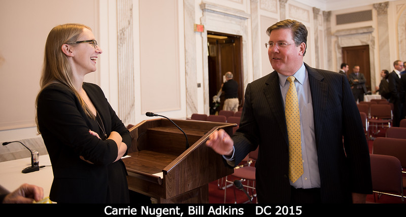 Carrie Nugent with former House Science Committee staffer Bill Adkins.<br /> <br /> Credit: Henry Throop<br /> Oct 2015<br /> DPS47 National Harbor