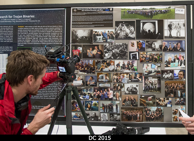 Check it out! Posters of photos, on TV! Science News gets close-up with my poster.<br /> <br /> Credit: Henry Throop<br /> Oct 2015<br /> DPS47 National Harbor