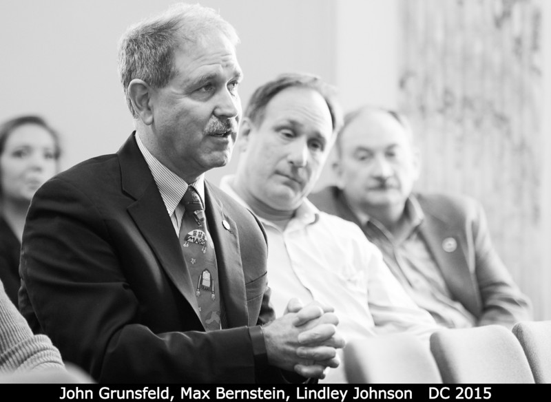 John Grunsfeld (HQ - sporting that fancy Mars alien tie), Max Bernstein, Lindley Johnson (HQ).<br /> <br /> Credit: Henry Throop<br /> Oct 2015<br /> DPS47 National Harbor