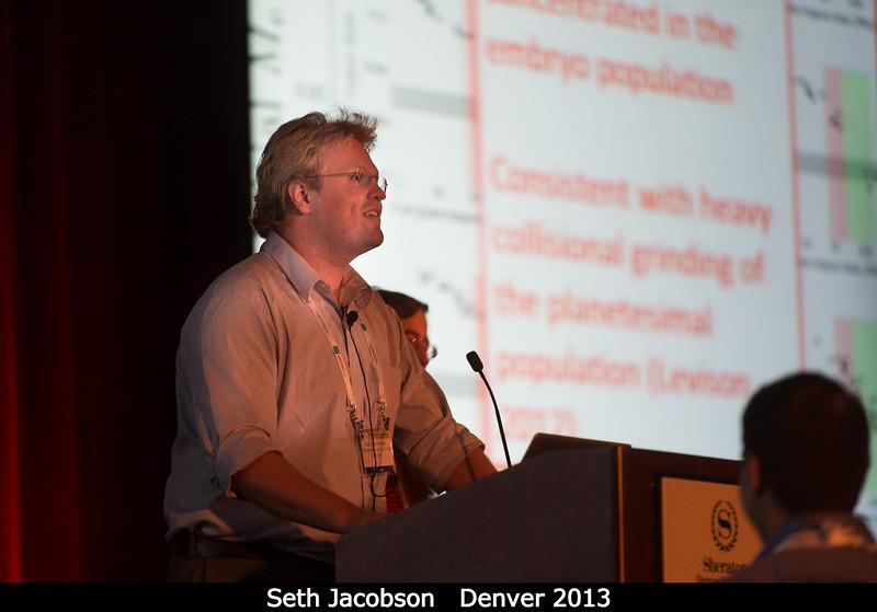 Seth Jacobson (Observatoire de la Cote d'Azur) talks collisional grinding!<br /> <br /> Credit: Henry Throop<br /> Oct 2013<br /> DPS45 Denver