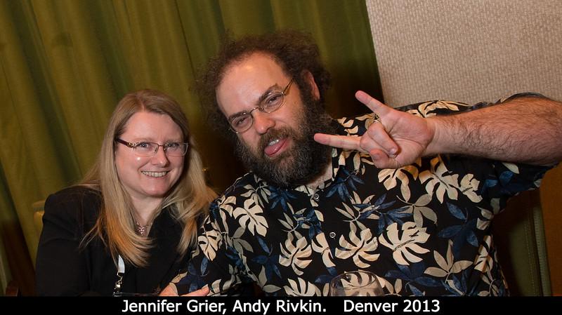 Jennifer Grier and Andy Rivkin.<br /> <br /> Credit: Henry Throop<br /> Oct 2013<br /> DPS45 Denver