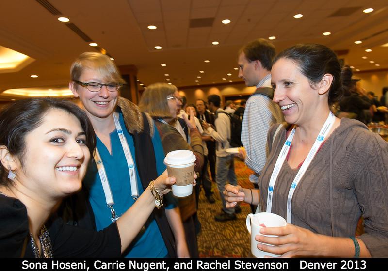 Sona Hoseni, Carrie Nugent (JPL), and Rachel Stevenson (JPL).<br /> <br /> Credit: Henry Throop<br /> Oct 2013<br /> DPS45 Denver