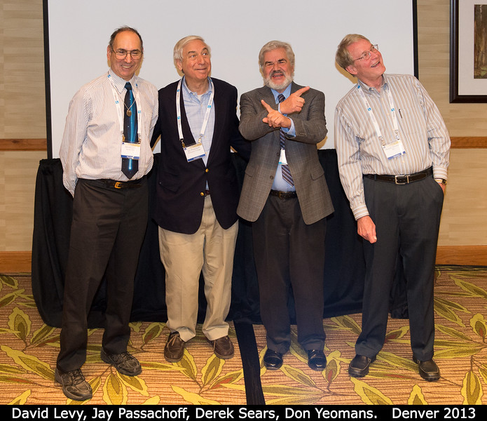 David Levy, Jay Passachoff, Derek Sears, Don Yeomans.<br /> <br /> Credit: Henry Throop<br /> Oct 2013<br /> DPS45 Denver