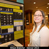 Allison Bratcher checks out those Saturnian ring-shadow models!<br /> <br /> Credit: Henry Throop<br /> Oct 2013<br /> DPS45 Denver