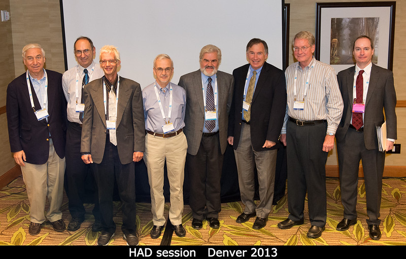 Presenters at the HAD session: Jay Pasachoff, David Levy, Clifford Cunningham, Donald Campbell (Cornell), Derek Sears (Ames), Paul Steffes (Georgia Tech), Don Yeomans (JPL), Jason Callahan.<br /> <br /> Credit: Henry Throop<br /> Oct 2013<br /> DPS45 Denver