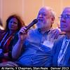 Al Harris (MoreData!, ex-JPL) get the microphone, between Y Chapman and Stan Peale (USCB).<br /> <br /> Credit: Henry Throop<br /> Oct 2013<br /> DPS45 Denver