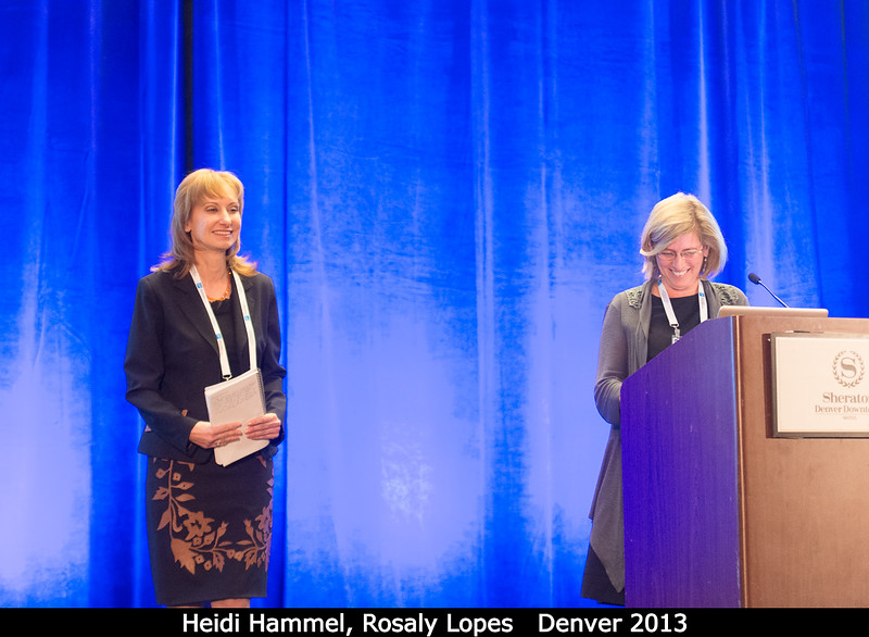 Heidi Hammel is given the DPS gavel from Rosaly Lospes.<br /> <br /> Credit: Henry Throop<br /> Oct 2013<br /> DPS45 Denver