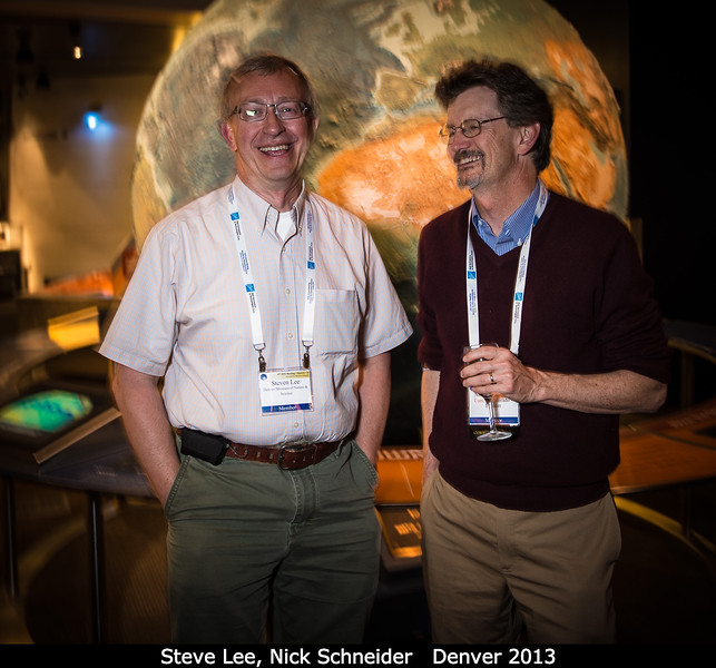 Steve Lee and Nick Schneider explore the Earth at the DMNS.<br /> <br /> Credit: Henry Throop<br /> Oct 2013<br /> DPS45 Denver