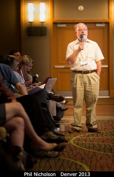 Phil Nicholson asks a question.<br /> <br /> Credit: Henry Throop<br /> Oct 2013<br /> DPS45 Denver