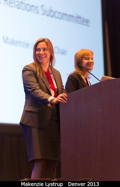 Makenzie Lystrup talks Federal Relations at the Members Meeting.<br /> <br /> Credit: Henry Throop<br /> Oct 2013<br /> DPS45 Denver
